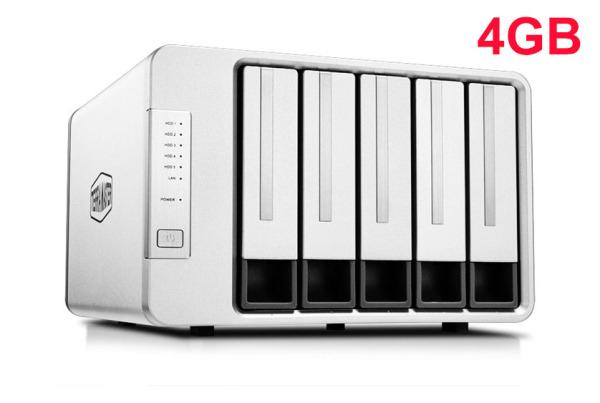 Bảng giá NAS TerraMaster F5-221, Intel Dual-core CPU 2GHz, RAM 4GB, 5 HDD bays Phong Vũ