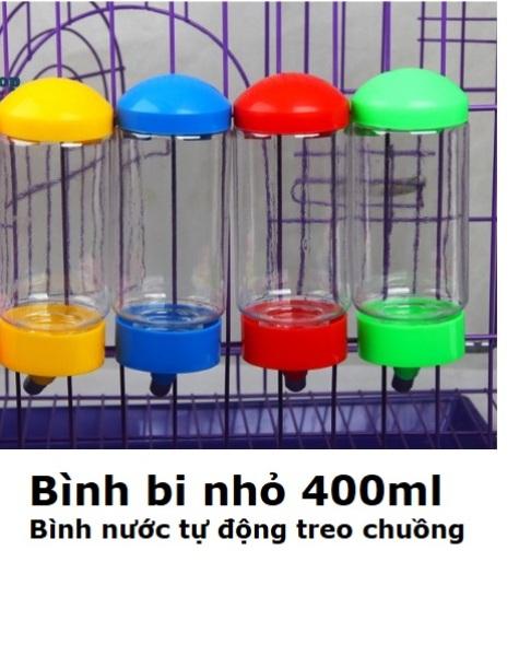 HN-Bình uống nước tự động treo chuồng thú cưng (loại nhỏ 400ml) hanpet 379