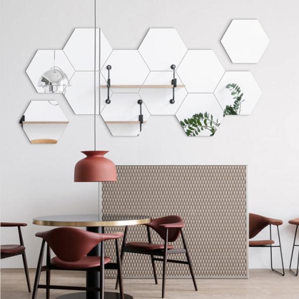 Gương dán tường, bộ 12 gương dán tường kích thước 11x11,Set 12 gương trang trí dán tường, gương dán phòng khách, nhà tắm giá rẻ