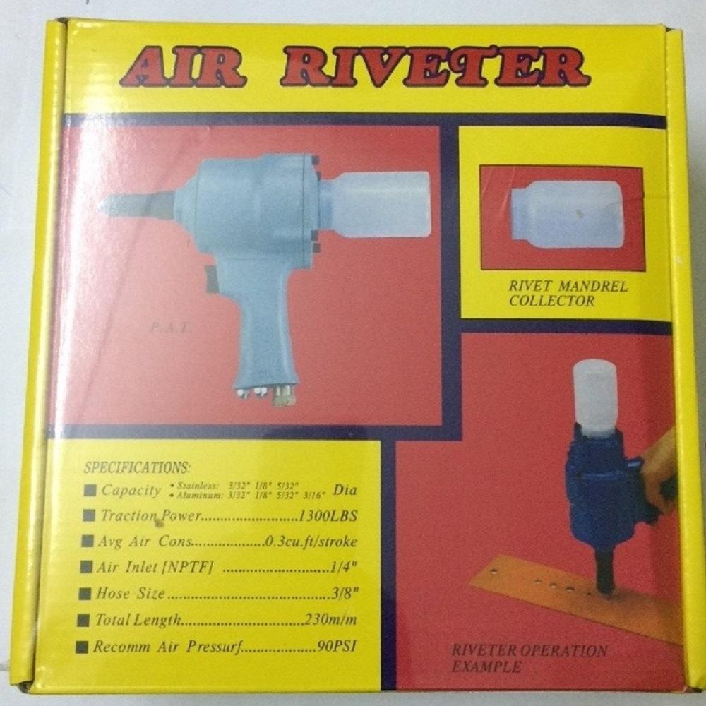 Máy rút đinh tán rút rive nhôm Air Riverter dùng hơi cực khỏe và bền có phụ kiện thay thế, Kìm rút đinh rive dùng khí nén, Kìm rút rive, Kìm tán đinh rive, Máy tán đinh rive dùng khí nén