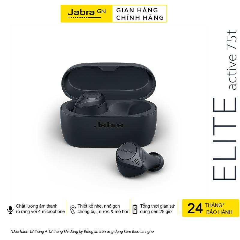 [Voucher + Hỏa Tốc + Trả Góp 0%] Tai Nghe True Wireless Jabra Elite Active 75T - Hàng Chính Hãng