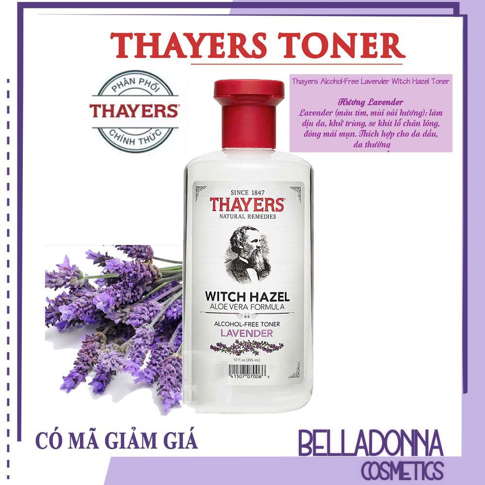 Nước hoa hồng không chứa cồn Thayers Alcohol Free Witch Hazel Toner Lavender 355ml