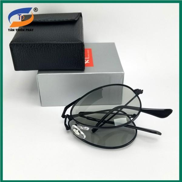 Giá bán Mắt kính nam đổi màu đi ngày đêm gấp gọn RBG. Tròng phân cực chống tia UV - Full box hộp đựng kính và khăn lau