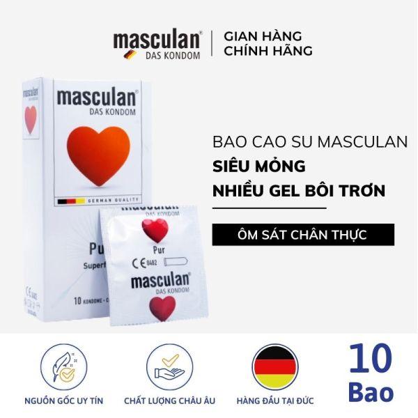 Hộp 10 Bao cao su siêu mỏng Masculan Pur Superfine - Chân thật mà an toàn - Hương thơm dịu nhẹ - Không mùi cao su - Làm từ mủ cao su tự nhiên công nghệ Đức