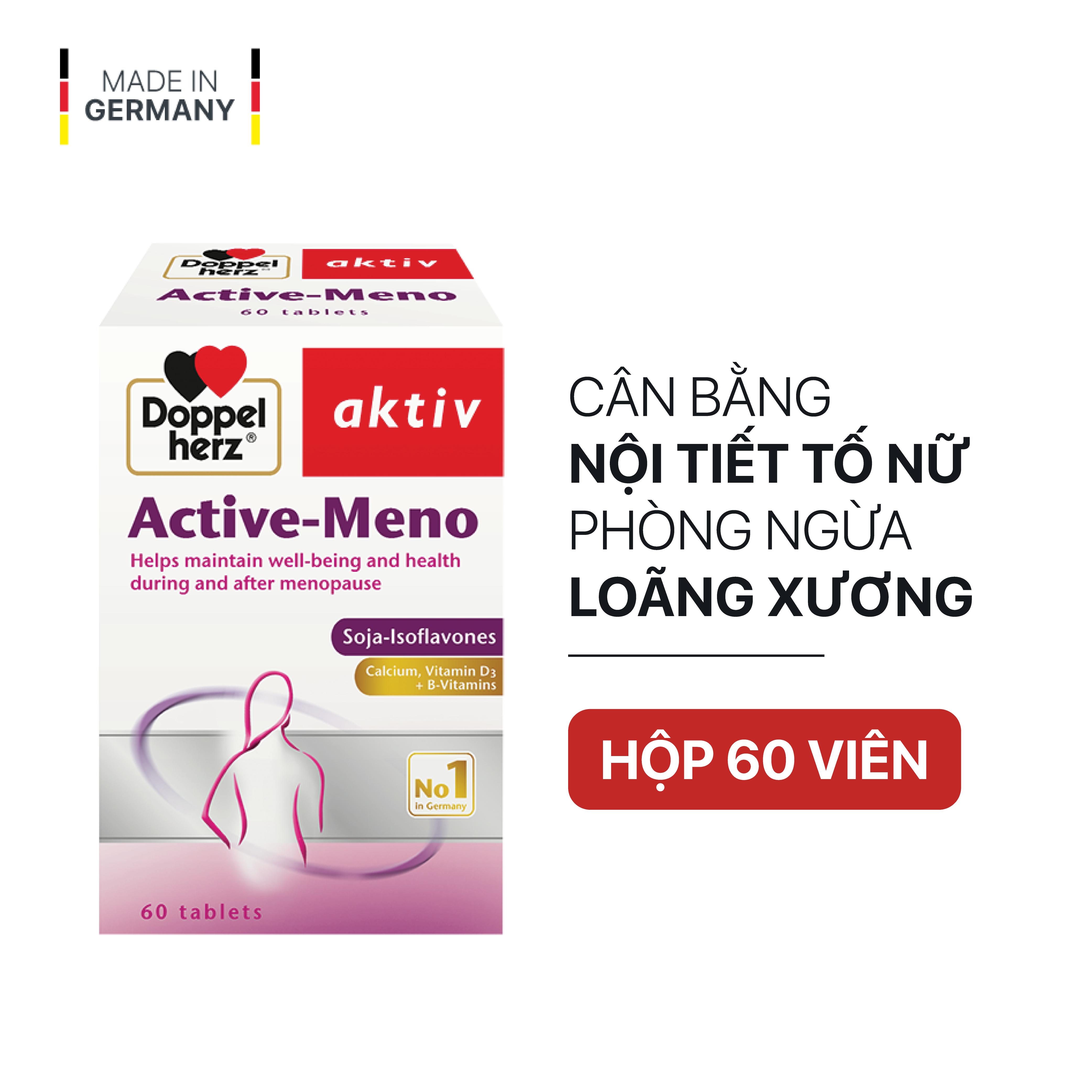 [HCM]Viên uống cân bằng nội tiết tố nữ Doppelherz Aktiv Active Meno (Hộp 60 viên)