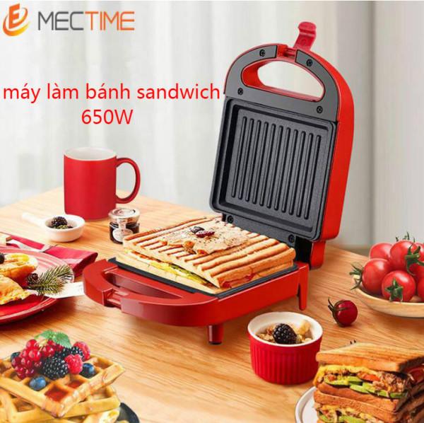 650W Máy làm bánh mì sandwich Không dính Máy nướng bánh mì ăn sáng mini Đa chức năng Máy làm bánh quế tại nhà Cắm Việt Nam Sandwich Maker Non Stick Mini Breakfast Toaster Bread Machine Multi-Function Home Waffle Maker Vietnam Plug
