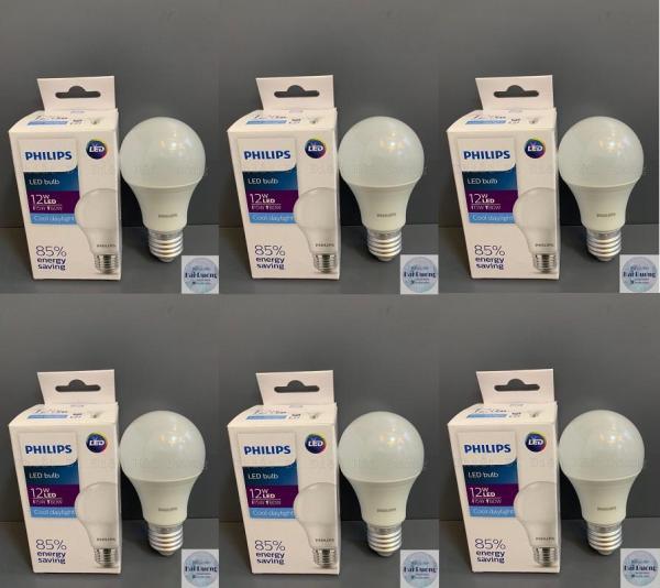 Bộ 6 Bóng đèn LED Bulb 12w E27 Philips HV 1PF/20 GMGC  (Trắng/Vàng)
