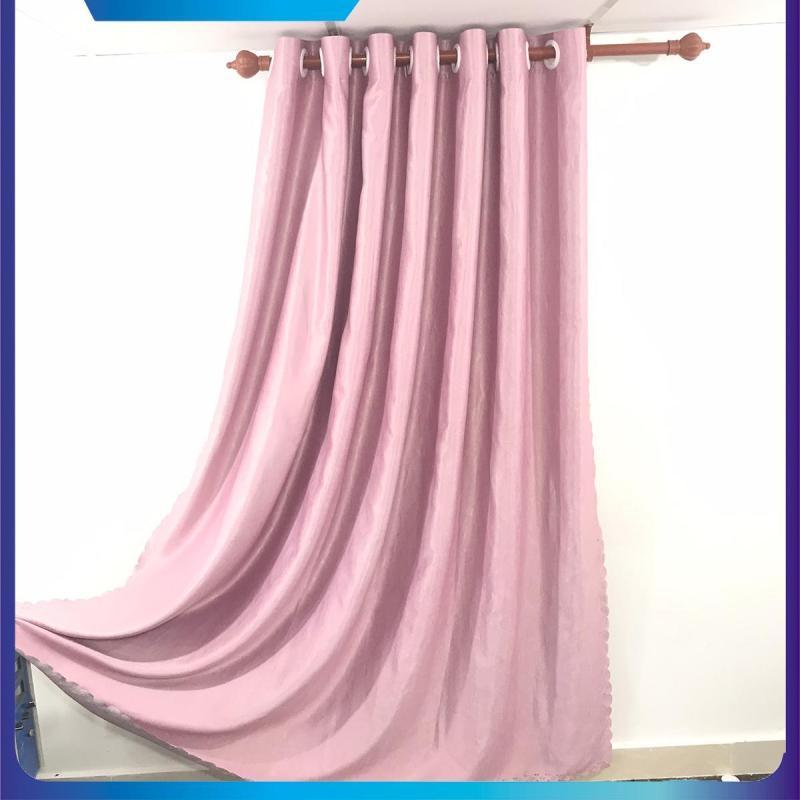 màn cửa, rèm cửa chống nắng, ngang 1.5m, 2m, 2.5m, 3m cao tùy chọn màu hồng phấn, dùng làm rèm cửa chính, rèm cửa sổ, màn cửa chống nắng + tặng dây vén màn trang trí - ilakaka
