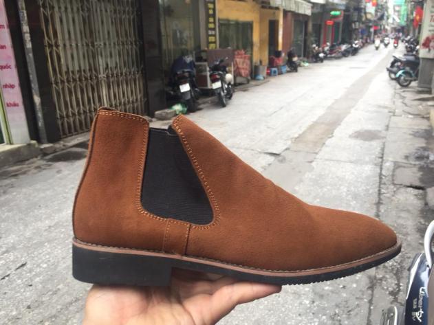giày chelsea boot cổ cao da bò lộn 2H - 56 giá rẻ