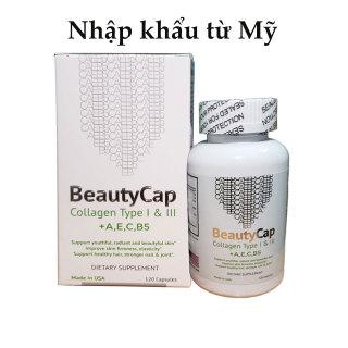 Viên Collagen trắng da BeautyCap Mỹ bổ sung Vitamin + AEC, và B5 Collagen Type 1&3 thumbnail