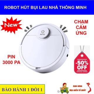 Robot Hút Bụi Lau Nhà, Robot Hut Bui, Máy Lau Nhà Thông Minh.[HÀNG CHÍNH HÃNG] Robot Hút Bụi Lau Nhà thông minh 3 in 1, thiết kế gọn nhẹ, nút chạm cảm ứng, lau dọn thông minh, dung lượng pin lớn. Giá sốc (-50%) thumbnail