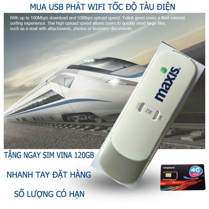 USB phát wifi ZTE MF70, Kết nối nhiều thiết bị , đa mạng, tặng siêu sim 4G thần thánh