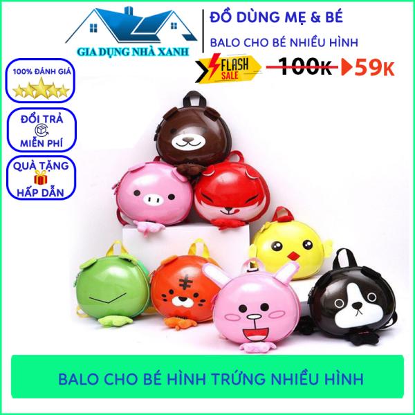 Balo Cho Bé Nhiều Hình Đáng Yêu, Balo Trứng Hotrend Cho Bé Đi Học, Đi Chơi Ngộ Nghĩnh Đáng Yêu