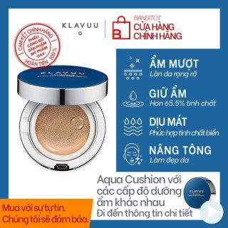 PHẤN NƯỚC KLAVUU BLUE PEARLSATION HIGH COVERAGE MARINE COLLAGEN AQUA CUSHION SPF50 PA+++ thumbnail