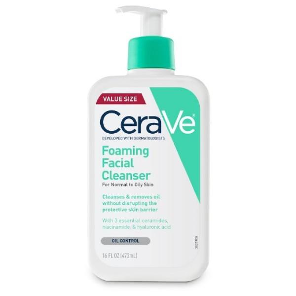 Sữa rửa mặt da dầu CeraVe Foaming Facial 473ml