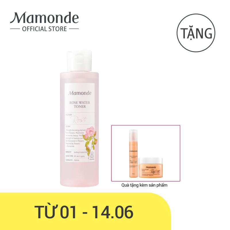 Nước hoa hồng cung cấp độ ẩm Mamonde Rose Water Toner 250ml