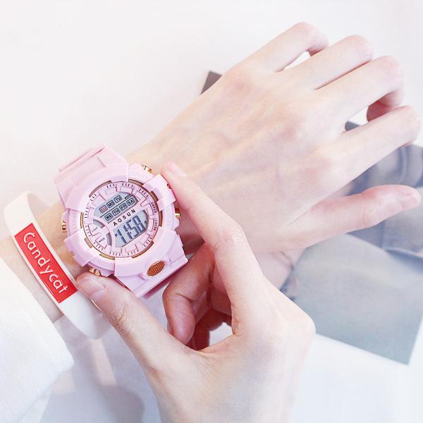 Nơi bán Đồng hồ nữ thể thao Shhors AOSUN chạy kim và số điện tử cực chất size 30mm dây silicone, mặt kính cường lực chống trầy