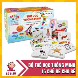 Bộ Thẻ Học Thông Minh 16 Chủ Đề Tiếng Anh Tiếng Việt Cho Bé thumbnail
