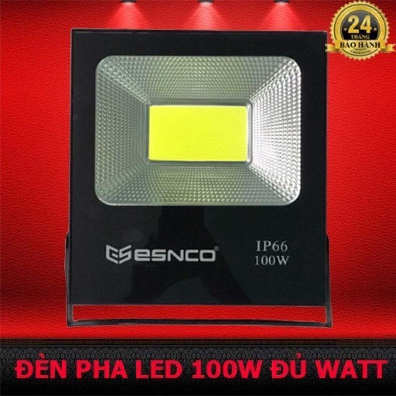 Đèn Pha Led công suất 100W thương hiệu ENSCO ánh sáng trắng IP 66  chống nước thích hợp chiếu sáng công trình , sân vườn, văn phòng , công ty