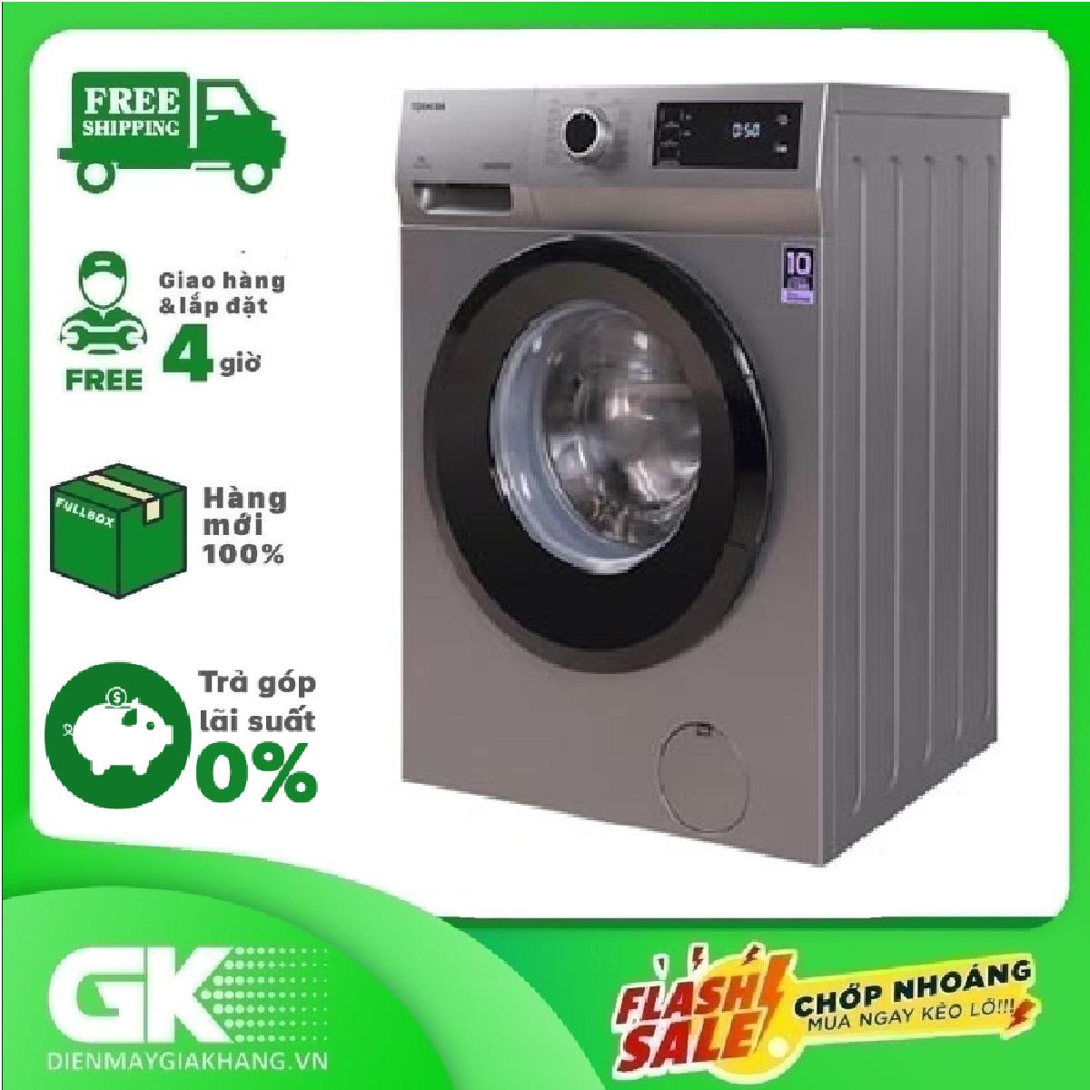 [HẠN GIAO 30 NGÀY] [Trả góp 0%]RẢ GÓP 0% - MÁY GIẶT LỒNG NGANG TOSHIBA 9.5Kg TW-BK105S3V (SK)- công nghệ Inverter công nghệ giặtGreatwave sức mạnh siêu sóng chế độ giặt nhanh 15 phút tự vệ sinh lồng giặt hẹn giờ khóa an toàn trẻ em - Bảo h