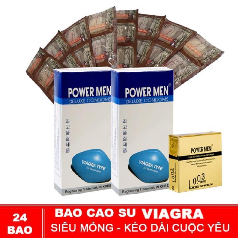 Bao cao su Powermen Bộ 24 bao Siêu Mỏng Kéo Dài cao cấp