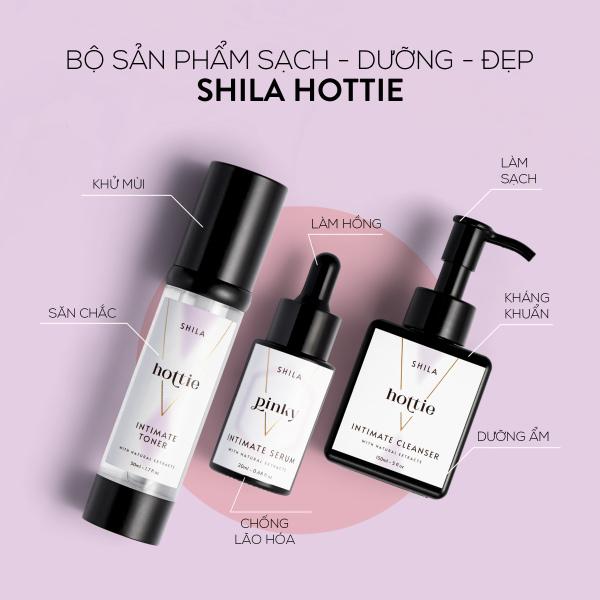 Bộ sản phẩm Sạch - Dưỡng - Đẹp sáng mịn hương Shila Hottie - Serum Pinky