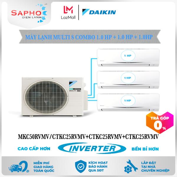 [Free Lắp HCM] Máy Lạnh Multi S Daikin Inverter Combo 1.0HP+1.0HP+1.0HP MKC50RVMV/CTKC25RVMV+CTKC25RVMV+CTKC25RVMV Gas R32 Treo Tường 1 Chiều Lạnh Điều Hòa Multi Daikin - Điện Máy Sapho