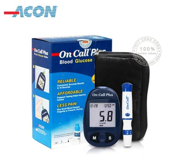 Nơi bán [TRỌN BỘ] Máy Đo Đường Huyết Acon On Call Plus + Tặng hộp 25 que thử và 25 kim chích máu, BH trọn đời