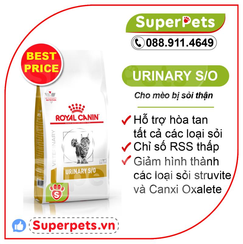 [ Chiết + Nguyên Bao] Urinary Hạt Khô Siêu Tiết Kiệm Royal Canin Hổ Trợ Sỏi Thận Cho Mèo 400g, 1.5kg SUPERPETS VIỆT NAM
