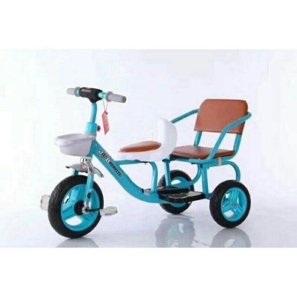 XE ĐẠP TRẺ EM - XÍCH LÔ -, Xe đạp xích lô yên da cho bé 2-6t