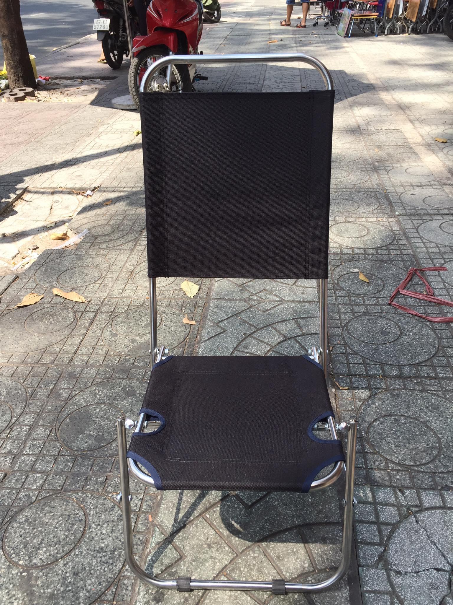 Ghế Cafe Xếp Lưng Cao 80cm Với Giá Sốc