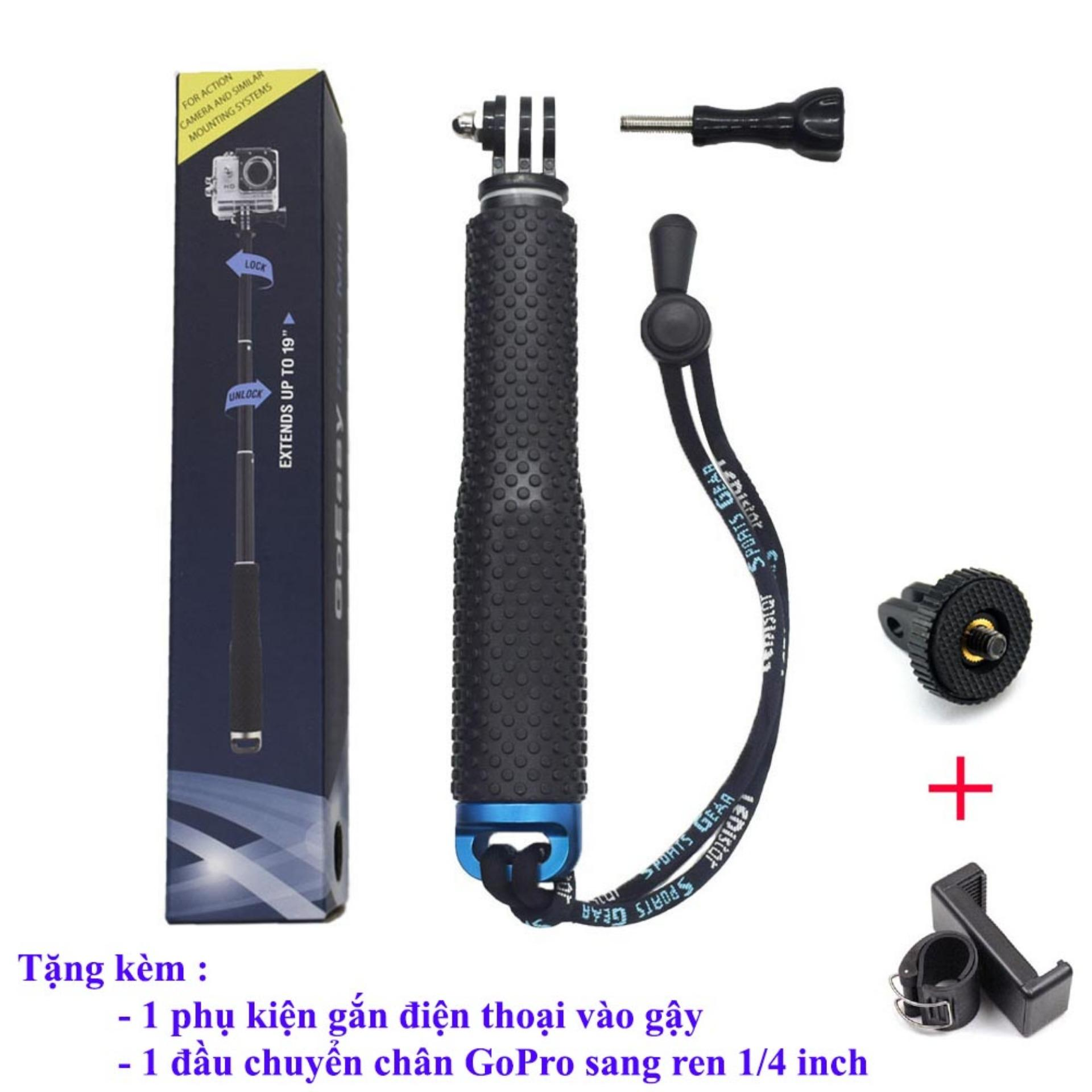 Gậy Goeasy Pole Mini Cho Gopro, Sjcam, Xiaomi Yi By Nhất Phượt.