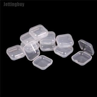 Jettingbuy Ministar 10Pcs Mini Clear Plastic Small Box Jewelry Earplugs Container Storage Box thumbnail