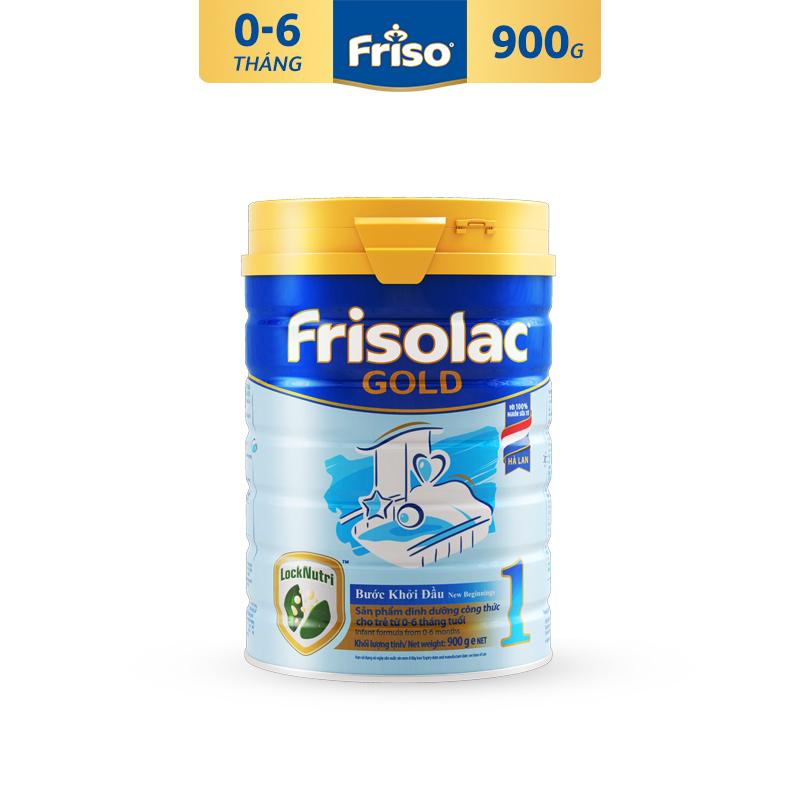 Sữa Bột Friso Gold 1 900g cho trẻ từ 0-6 tháng - Cam kết HSD ít nhất 10 tháng