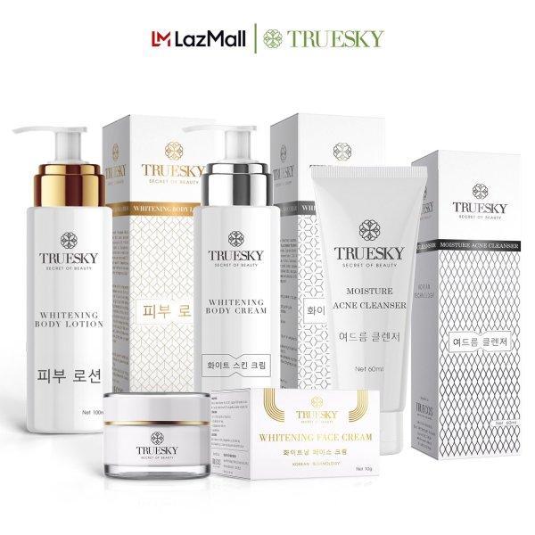 Bộ Truesky VIP03 gồm 1 ủ trắng body 100ml & 1 dưỡng trắng body 100ml & 1 dưỡng trắng da mặt 10g & 1 sữa rửa mặt 60ml nhập khẩu