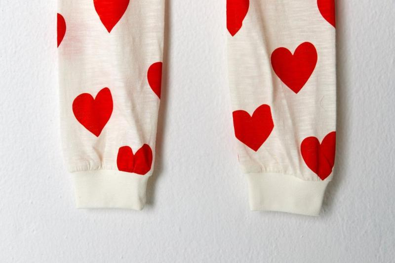 Nơi bán Đồ bộ mặc nhà bé gái Unifriend thun dài họa tiết trái tim U9SSTD09