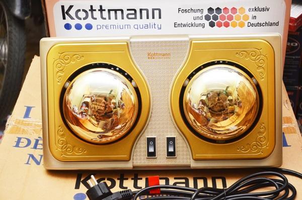 Đèn sưởi nhà tắm cao cấp 2 bóng Kottman