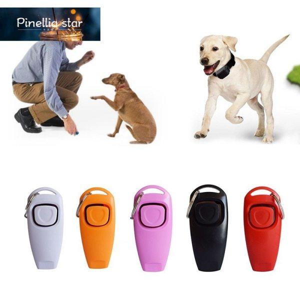 Pinellia star Còi Huấn Luyện Chó Bấm 2 Trong 1 Cho Thú Cưng, Thẻ Trả Lời Huấn Luyện Chó Cưng Hướng Dẫn Hỗ Trợ Có Móc Chìa Khóa Đồ Dùng Cho Chó Cưng