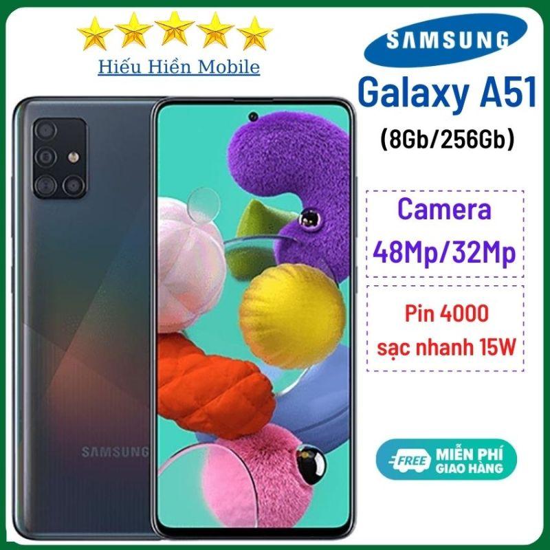 Điện thoại Samsung Galaxy A51 (8Gb/256GB)-Camera sau 48Mp, camera trước 32Mp - Hiếu Hiền- Pin 4000mAh, có sạc nhanh, máy mới nguyên seal, sản phẩm bán chạy số 1 thế giới, ss a51, samsung a51s - Hàng Chính Hãng