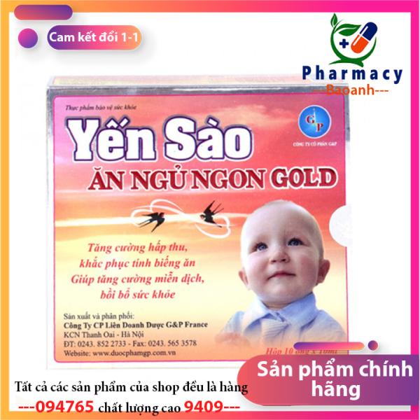Yến sào ăn ngủ ngon gold  [CHÍNH HÃNG]  giúp bé ăn ngon miệng, tăng cường sức đề kháng cho cơ thể - Hàng chính hãng - Đánh giá 5 sao - chất lương cao giá rẻ