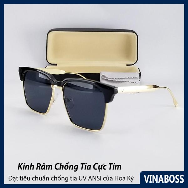Giá bán Mắt kính mát nam nữ thời trang V930 gọng kim loại, tròng Polariezd chống tia UV - Tặng kèm hộp và khăn lau