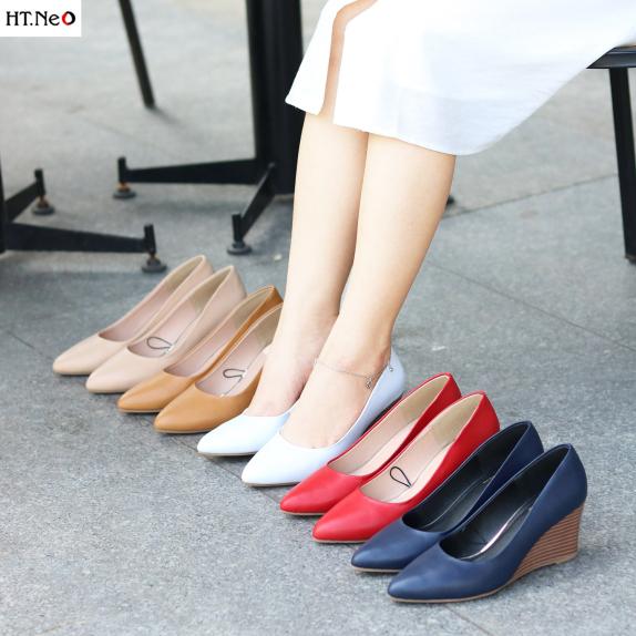 Giày xuồng ♥️ HT NEO ♥️ da bò thật 100% đế xuồng 7 phân cực sang chảnh cực đẹp- rất êm chân khi sử dụng ( cs69 ) giá rẻ