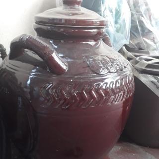 Chum sành Hũ gạo Chum gốm sứ Bát Tràng 20 lít (nâu) thumbnail