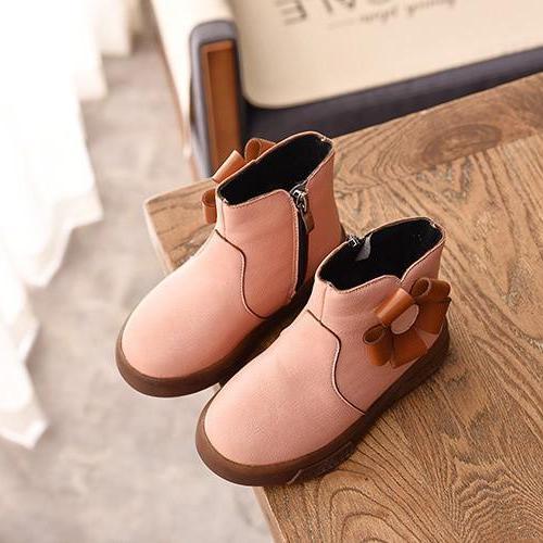 Giá bán giày Bốt Bé Gái Size 21-28 đính bông da mềm