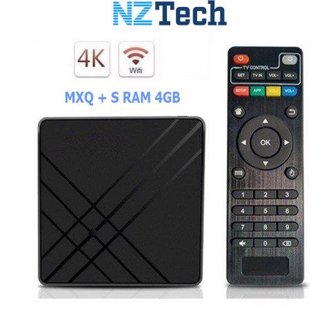 Biến TV thường thành Smart TV - MXQ Plus RAM 4G Android 9