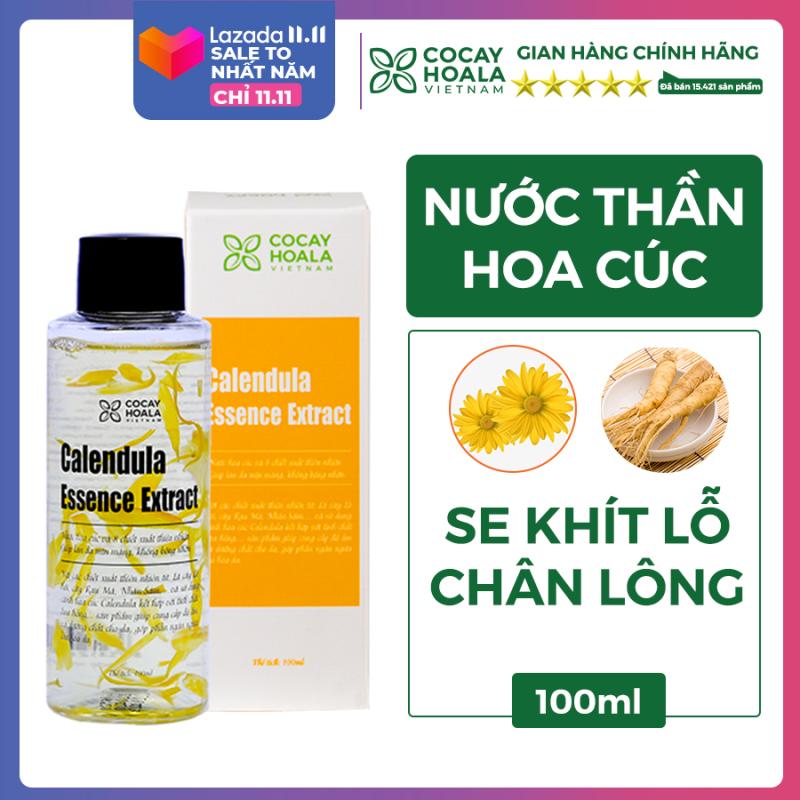 Nước thần hoa cúc 2in1 kết hợp toner và kem dưỡng - Calendula Essence Extract - Cấp ẩm, sáng da, se khít lỗ chân lông Cocayhoala 100ml nhập khẩu
