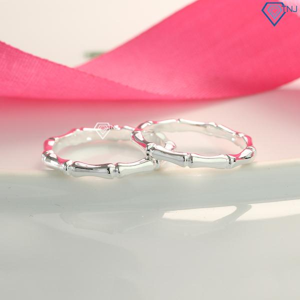 Nhẫn cặp bạc trơn đẹp giá rẻ ND0423 - Trang Sức TNJ