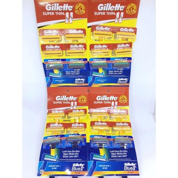 Dao cạo râu Gillette (Vỉ 24 cây VÀNG và XANH) cao cấp