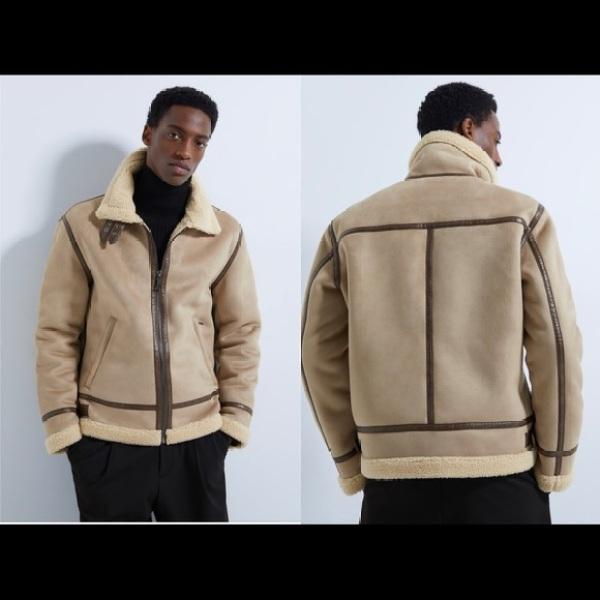 Áo Khoác Lông Cừu Zara Men