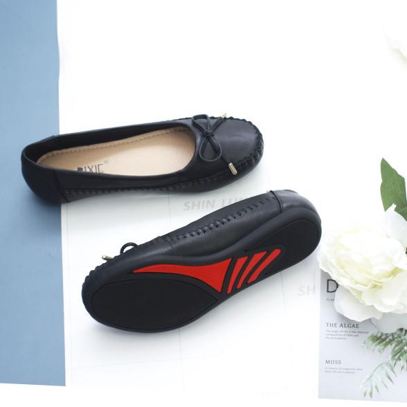 Giày Búp Bê Bệt Da Bò Thật Siêu Êm Gắn Nơ Nhỏ Pixie X603 giá rẻ